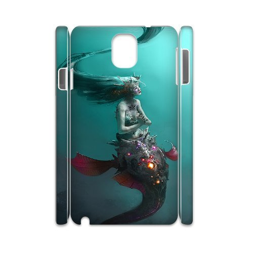 Samsung Galaxy Note 3 N9000 Mermaid 3D Art Print Design Phone Back Case Customized Hard Shell Protection Aq066869