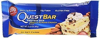 Quest Nutrition Quest Protein Bar Vanilla Almond Crunch Bar, 12 Count, 25.4 Ounce