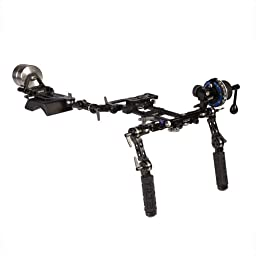 Ikan TT-03-TL DSLR Shoulder Rig w/ Follow Focus and Counter Weights