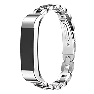 Dreaman Stainless Steel Watch Band Wrist strap For Fitbit Alta Smart Watch