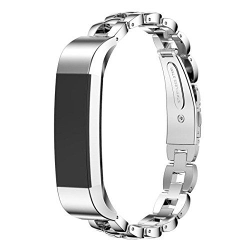 Dreaman Stainless Steel Watch Band Wrist strap For Fitbit Alta Smart Watch (Watch Strap Stainless Steel 10mm compare prices)