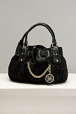 Juicy Couture Freestyle Black Velour Satchel