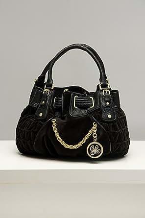 Juicy Couture Freestyle Black Velour Satchel