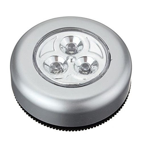 Moonar®Wireless 3 Led Cabinet White Light Closet Lamp Car Inside Bulb Battery Sticker