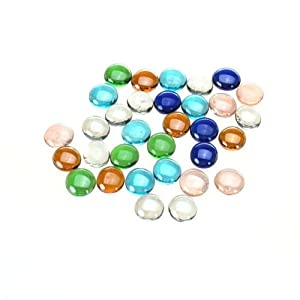 Ek aquarium colorful glass gravel stone fish - Glass stones for fish tanks ...