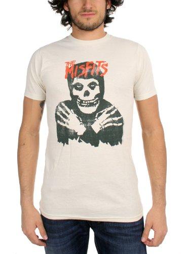 Gli spostati - - classique Crâne (affligé) T-shirt blanc En Vintage Vintage White Large