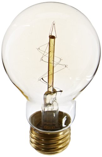 Heirlume Hl-0160Wpack1 Vintage Edison Bulb 60-Watt With Medium Base, 2.4-Inch X 4.3-Inch, 1-Pack