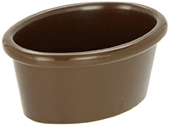 Carlisle S31069 Chocolate 2 Oz. Oval Melamine Ramekin (Case of 48)