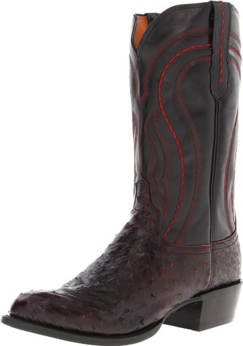 2be4e7fdabe Lucchese Classics Men s M1609 Boot Black Cherry Full Quill Ostrich ...
