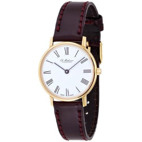[オーレマティーセン]OLE MATHIESEN 腕時計28mm Quartz Gold Plated Roman/White Dial JP ORIDINAL OMN020070 レディース 【正規輸入品】