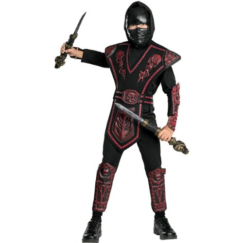 Red Skull Warrior Ninja Costume - Large