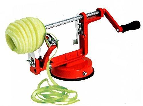 FreshGadgetz 1 Ensemble de Machine 3 En 1 Éplucheuse de Pommes / Épépineuse de Pommes / Découpeuse de Pommes en aluminium