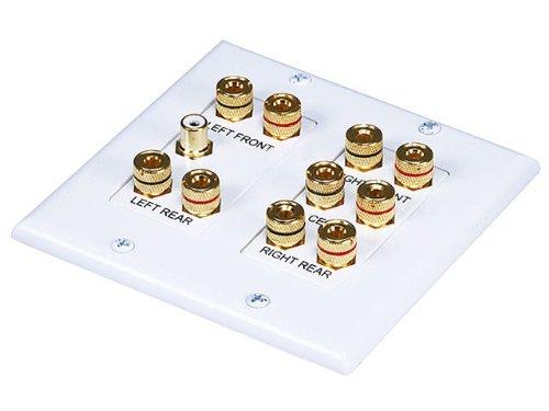 Monoprice 2-Gang 5.1 Surround Sound Distribution Wall Plate