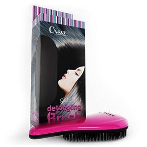 Detangling Brush - Glide Thru Detangler Hair Comb or Brush - No More Tangle - Adults & Kids - Pink