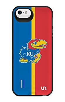 buy Uncommon Llc University Of Kansas Half Color Power Gallery Battery Charging Case For Iphone 5/5S - Other Chargers - Retail Packaging - Multicolored