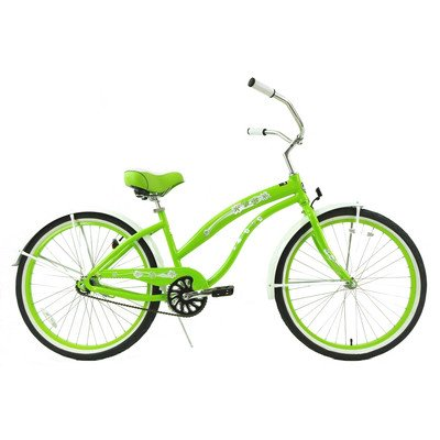 Women's Single Speed Beach Cruiser Color: Lime Green