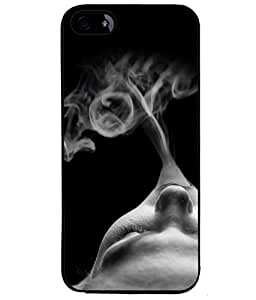 Fuson Love Smoke Back Case Cover for APPLE IPHONE 4S - D3631