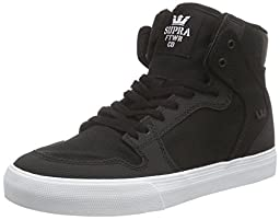 Supra Kids Unisex Vaider (Little Kid/Big Kid) Black/White Sneaker 3 Little Kid M