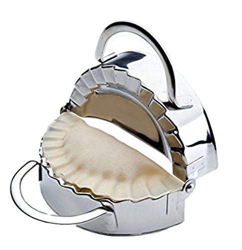 Bestwoohome Stainless Steel Kitchen Dumpling Press Dough/Pastry Maker Mold for Cooking (Large) (My Perfect Pasta Maker compare prices)