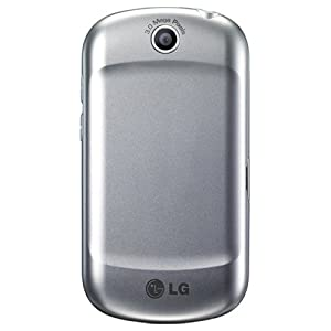 LG P350 Optimus Me with Android OS, Wi-Fi, GPS Navigation, Stereo Bluetooth, 3 MP Camera and Video Recorder - Unlocked Phone - US Warranty - Silver