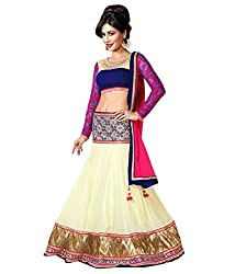 Vadaliya Enterprise Women's Georgette Embroideredcream Lehenga Choli