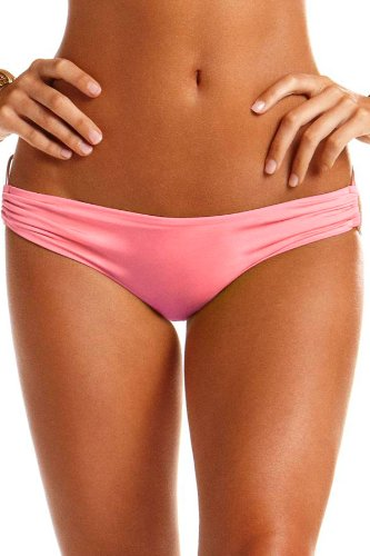 Vitamin A Women'S Ring Side Brazilian Bikini Bottom Pamplemousse 10
