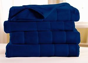 Sunbeam Royal Dreams Twin Heated Blanket, Newport Blue