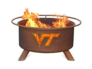 Virginia Tech VT Hokies Portable Steel Fire Pit Grill by Patina