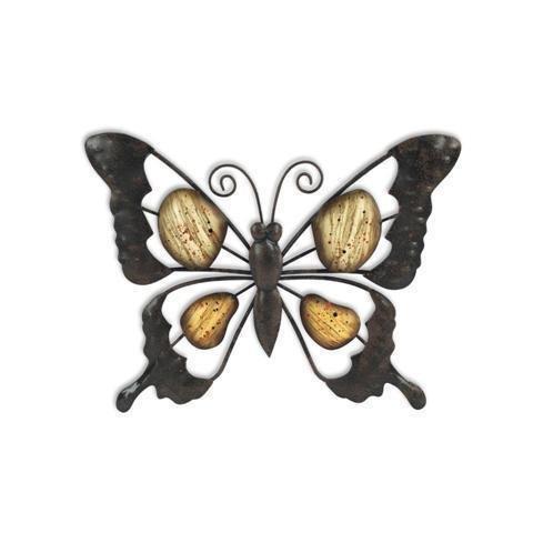 mariposa metálica para pared