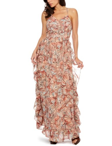 House Of Dereon Long Ruffle Maxi Women's Dress