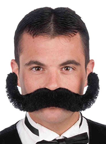 Forum Novelties Men's Novelty Jumbo Mustache, Black, One Size
