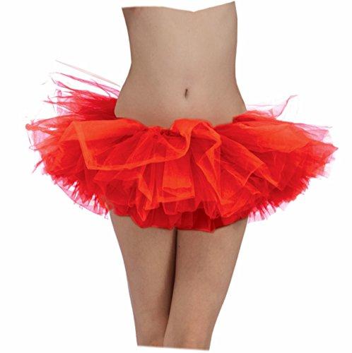 Red Adult Tutu Ballerina Ballet Pettiskirt Elastic Costume