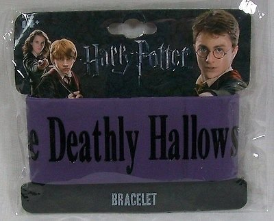 "Neca Harry Potter Deathly Hallows DH Series 2 Thick Rubber Bracelet - ""Deathly Hallows V2″"