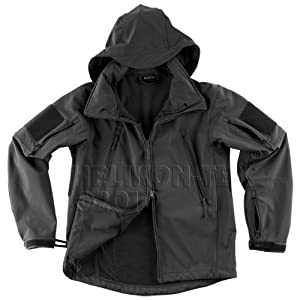 Gunfighter Soft Shell Mens Airsoft Jacket Helikon Black from Helikon