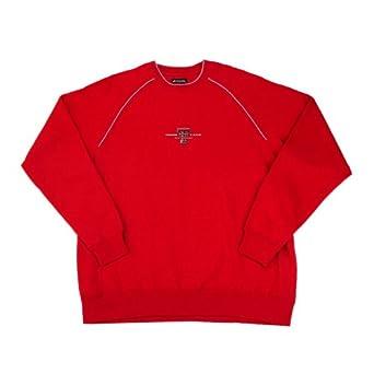 NCAA Texas Tech Inspired Fleece Long Sleeve Crewneck Pullover by Antigua