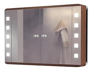 Diamond x miroir salle de bain armoire lumineux toilette - Miroir salle de bain lumineux anti buee ...