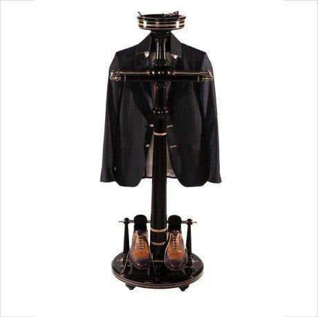 Casa Padrino Designer luxury wardrobes stand New York bankers Style - Black Dressboy - clothes rack suit stands - Empire Baroque Art Deco Art Nouveau