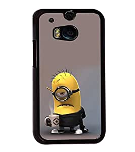printtech Minions Coffee Working Back Case Cover for HTC One M8::HTC M8