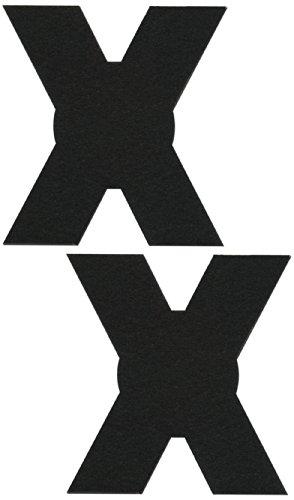 Black Cross Nipple Pasties By Pastease O/S