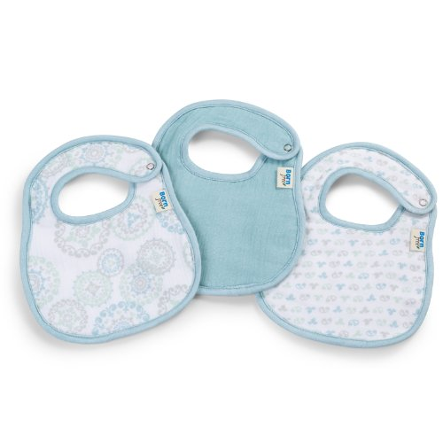 Born Free Soft Clean Bibs, Deco Circle, 3-Pack - 1