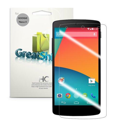 Greatshield Mere Mark Ii Ultra Clear (Hd) Smooth Screen Protector For Google Nexus 5 / Lg Nexus 5 2013 (Sprint, At&T, T-Mobile, Verizon, Unlocked) (3 Pack) - Lifetime Warranty