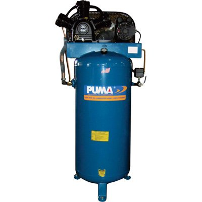Puma Belt-Drive Stationary Vertical Air Compressor - 60-Gallon Vertical, 5 HP, 18.2 CFM, Model# PK7060VS