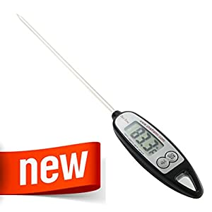 New Chef Remi Grill Thermometer - Best Digital Thermometer for All Food, Cooking Meat, BBQ, Smoker, Kitchen, Turkey and Candy - Instant Read - LCD Screen - Long Probe- Perfect Fathers Day Gift