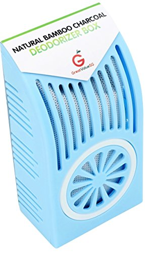 Buy More Save More Great Value SG Natural Bamboo Charcoal Deodorizer Box- BEST REFRIGERATOR ODOR & MOISTURE ABSORBER- More Effective than Baking Soda- Keep food fresh longer and air cleaner(Baby Blue) (Reusable Baking Soda Container compare prices)