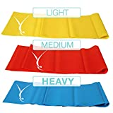 3 Piece Booty Resistance Bands Set for Home Workout and Exercise, 4' Long :: for Toning, Stretching, Strength Training and Physical Therapy :: for Men, Women, Kids and Seniors