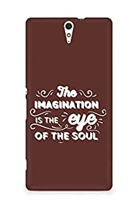 Amez The Imagination is the Eye of the Soul Back Cover For Sony Xperia C5