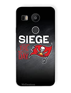 MiiCreations 3D Printed Back Cover for LG Nexus 5X,Siege The Day