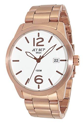 Jet Set 15234 J6280R-162 - Reloj para hombres, correa de acero inoxidable color rosa