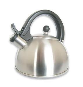 B&E (TM) Stainless Steel Teakettle 2.0 Litres Whistling Tea Kettle (XM009) - Silver by BE