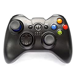 Mobilegear Wireless Bluetooth Recheargeable Mobile Game Pad Controller Joystick for PC Android Apple iOS & PS3